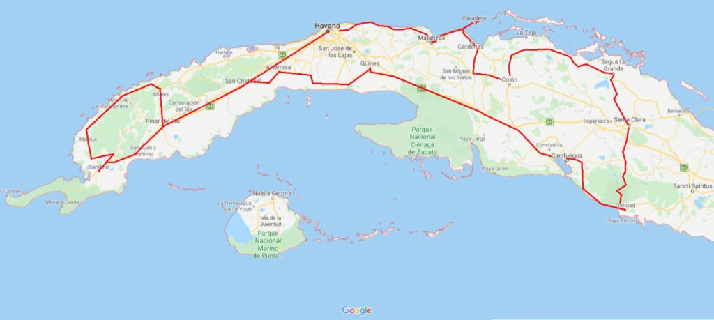 Rondje zwerven in het westen van Cuba vanMC40